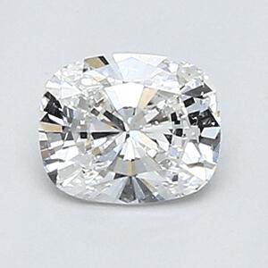 Foto 0.39 quilates, cojín de diamante con muy buen corte, color D, claridad VVS2 y certificado por EGL de