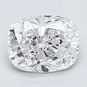 Picture of 0.35 Carats, Cushion Diamond with Very Good Cut, D Color, VS2 Clarity and Certified By EGL