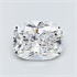 0.37 Carats, Cushion Diamond with Very Good Cut, D Color, VVS2 Clarity and Certified By EGL, Stock 370178