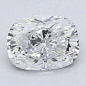 Picture of 0.34 Carats, Cushion Diamond with Very Good Cut, E Color, VVS2 Clarity and Certified By EGL