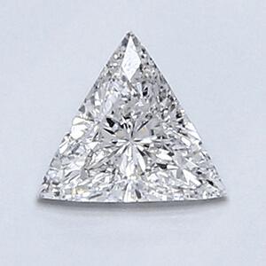 Foto 0.35 quilates, diamante triangular con muy buen corte, color D, claridad SI1 y CGL certificado de