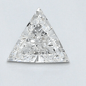 Picture of 0.29 Carats, Triangle Diamond with Very Good Cut, F Color, SI1 Clarity and Certified By CGL