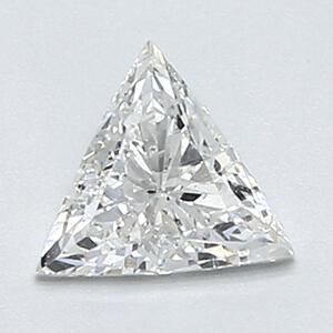 Foto 0,34 quilates, diamante triangular con muy buen corte, color E, claridad SI1 y certificado por CGL de