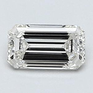Foto 0.30 quilates, diamante esmeralda con corte ideal, color F, claridad VVS2 y certificado por CGL de