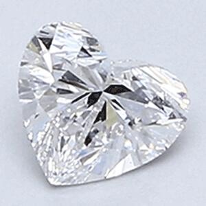 Foto 0.31 quilates, diamante del corazón con muy buen corte, color D, claridad VVS2 y certificado por CGL de