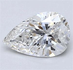 Foto 0.73 quilates, diamante de pera con muy buen corte, color D, claridad VS2 y certificado por CGL de