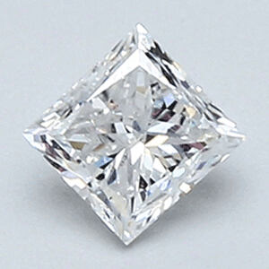 Picture of 0.43 Carats, Princess Diamond with Very Good Cut, D Color, VS1 Clarity and Certified By EGS/EGL