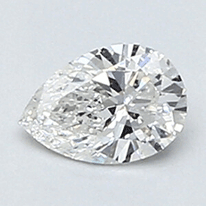 Picture of 0.20 Carats, Pear Diamond with Very Good Cut, F Color, VS2 Clarity and Certified By CGL