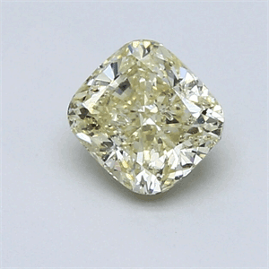 Picture of 0.9 Carats, Cushion Diamond with Ideal Cut, N Color,SI1 clarity Clarity and Certified By CGL