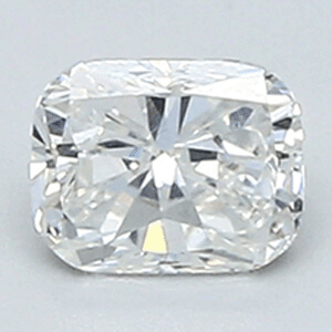 Picture of 0.41 Carats, Cushion Diamond with Very Good Cut, F Color, VS1 Clarity and Certified By EGL