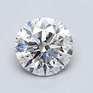 Foto 0.46 quilates diamante redondo D-SI1 Corte Ideal de