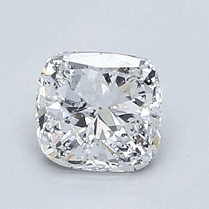 Picture of 0.5 Carats, Cushion Diamond with Very Good Cut, D Color, SI1 Clarity and Certified By EGL