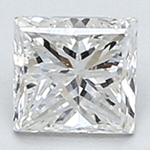 Picture of 0.39 Carats, Princess natural Diamond with Good Cut, F Color, VS2 Clarity and Certified By CGL