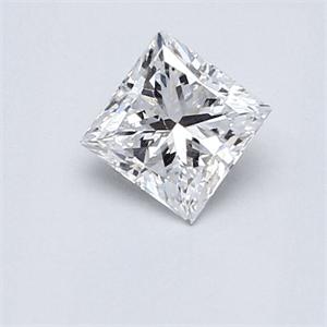 Foto 0.59 quilates, diamante princesa, corte muy bueno, D VS2 certificado por CGL de