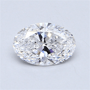 Picture of 0.72 Carats, Oval Diamond with  Cut, D Color, SI1 Clarity and Certified by GIA