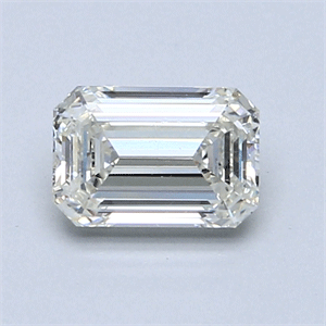 Picture of 0.91 Carats, Emerald Diamond with  Cut, J Color, SI1 Clarity and Certified by GIA