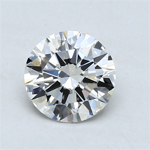 Picture of 0.90 Carats, Round Diamond with Excellent Cut, H Color, SI1 Clarity and Certified by GIA