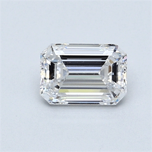 Picture of 0.70 Carats, Emerald Diamond with  Cut, D Color, SI1 Clarity and Certified by GIA