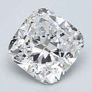 Picture of 0.47 Carats, Cushion Diamond with Very Good Cut, D VS1 Clarity and Certified By EGL