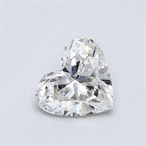 Foto 0.61 quilates, diamante del corazón con muy buen corte, color F, claridad VS2 y certificado por EGL de
