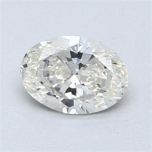 Picture of 0.90 Carats, Oval Diamond with  Cut, H Color, SI1 Clarity and Certified by EGL