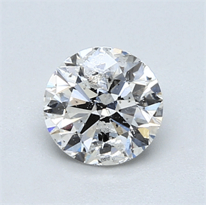 Picture of 0.91 Carats, Round Diamond with Good Cut, G Color, I2 Clarity and Certified by GIA