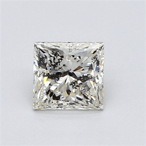 Picture of 0.81 Carats, Princess Diamond with  Cut, L Color, I2 Clarity and Certified by GIA