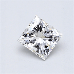Picture of 0.70 Carats, Princess Diamond with  Cut, F Color, SI1 Clarity and Certified by GIA