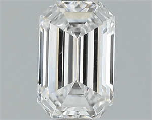Picture of 1.02 Carats, Emerald Diamond with  Cut, D Color, IF Clarity and Certified by GIA