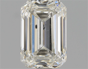 Picture of 1.50 Carats, Emerald Diamond with  Cut, G Color, SI1 Clarity and Certified by EGL