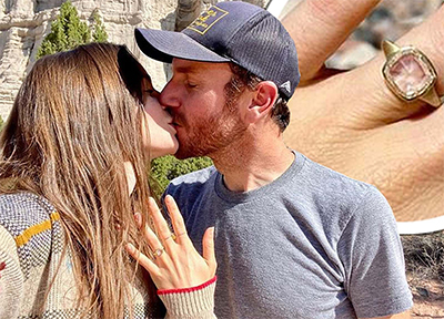 Lily Collin's and Charlie McDowell exquisite Engagement Ring