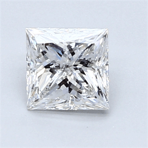 Picture of 0.71 Carats, Princess Diamond with  Cut, F Color, I2 Clarity and Certified by GIA