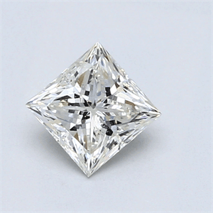 Picture of 0.71 Carats, Princess Diamond with  Cut, G Color, SI1 Clarity and Certified by EGL