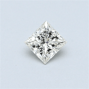 Picture of 0.30 Carats, Princess Diamond with  Cut, H Color, VS2 Clarity and Certified by EGL