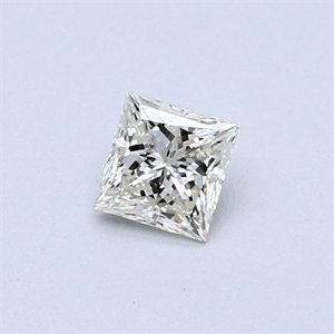 Picture of 0.34 Carats, Princess Diamond with  Cut, H Color, VVS1 Clarity and Certified by EGL