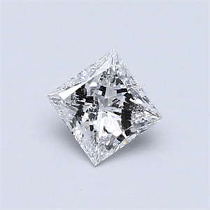 Picture of 0.41 Carats, Princess Diamond with  Cut, F Color, I2 Clarity and Certified by GIA
