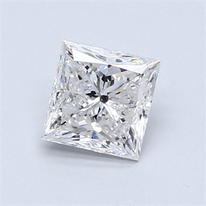 Picture of 0.90 Carats, Princess Diamond with  Cut, F Color, I2 Clarity and Certified by GIA
