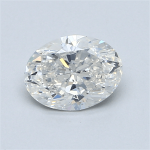 Picture of 0.80 Carats, Oval Diamond with  Cut, G Color, I1 Clarity and Certified by GIA