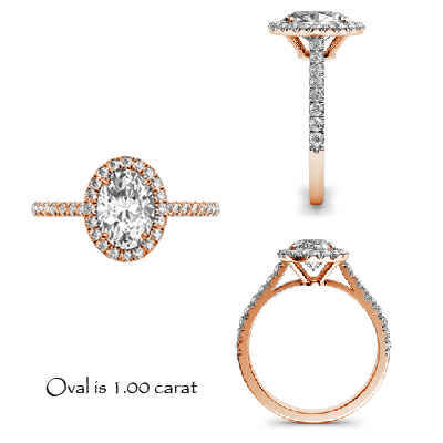 Oval  halo engsgement rings