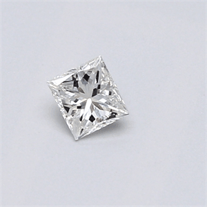 Picture of 0.19 Carats, Princess Diamond with  Cut, F Color, SI1 Clarity and Certified by IGI