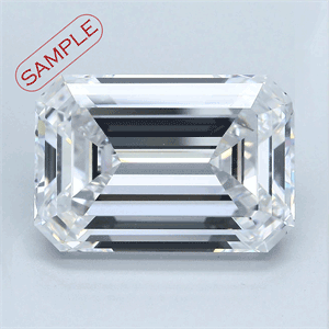 Picture of 0.74 Carats, Emerald Diamond with  Cut, H Color, IF Clarity and Certified by GIA