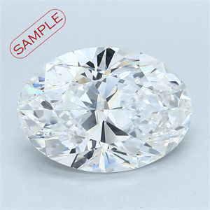 Picture of 0.80 Carats, Oval Diamond with  Cut, F Color, VVS2 Clarity and Certified by EGL