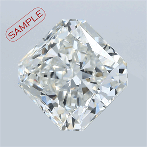 Picture of 0.54 Carats, Radiant Diamond with  Cut, D Color, VS1 Clarity and Certified by GIA