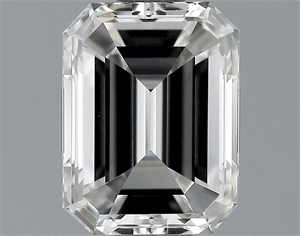 Picture of 1.03 Carats, Emerald Diamond with  Cut, E Color, IF Clarity and Certified by GIA