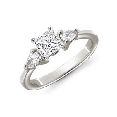 Pear sides engagement ring