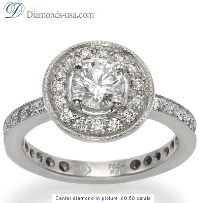 Desiners Pave set diamond Engagement ring