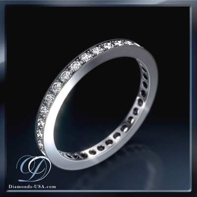 2 mm 0.34 carat diamonds wedding eternity band