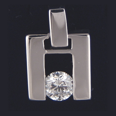 0.24 Carats, Round, Solitaire Diamond Pendant-Settings