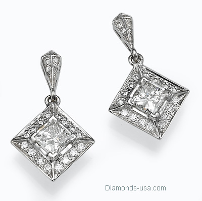 Designers drop princess earrings with diamonds