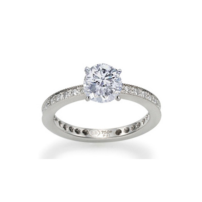 0.17 Carats, Round, Engagement and Wedding Diamond Rings Set